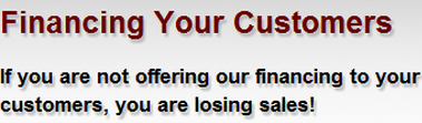 """Why offering financing to your customers just makes """"cents""""?"""